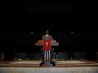 The Bellevue Baptist pulpit